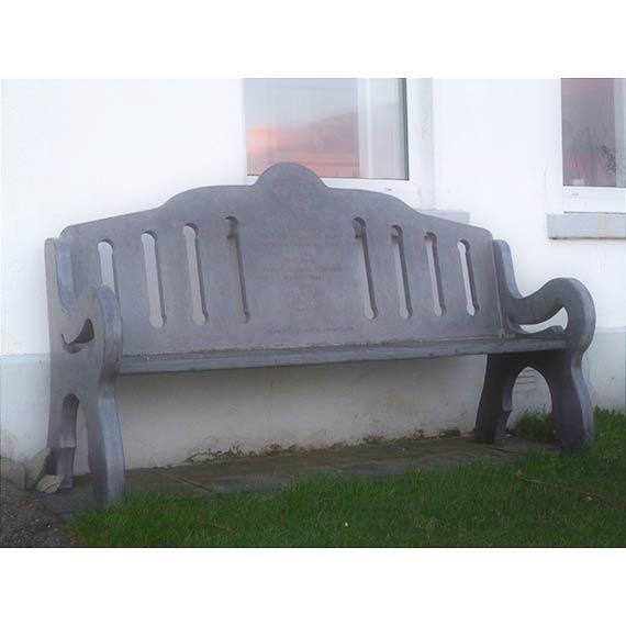 Valentia Slate ornate seat