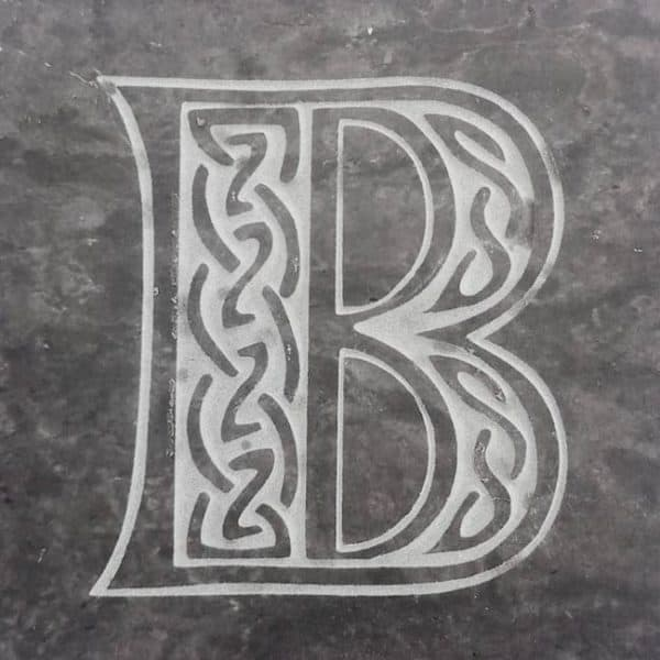 Valentia Slate Letter B Coaster