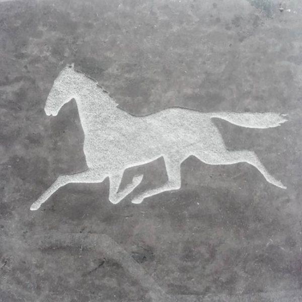 Valentia Slate coaster with Horse