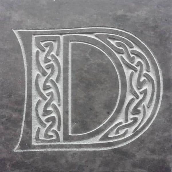Valentia Slate Letter D Coaster