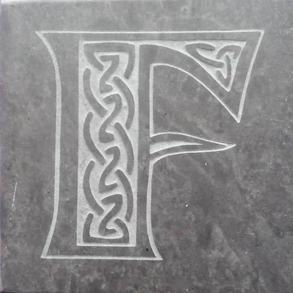 Valentia Slate Letter F Coaster
