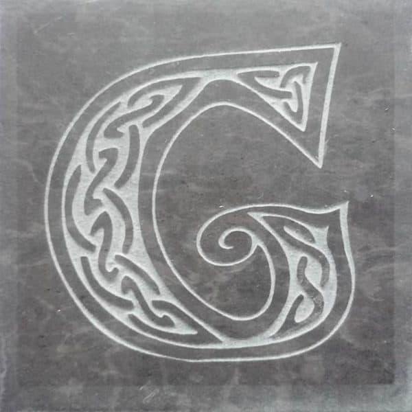 Valentia Slate Letter G Coaster