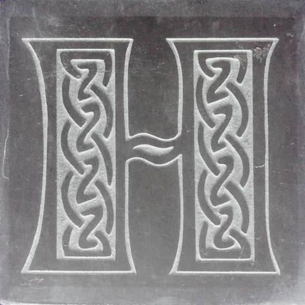 Valentia Slate Letter H Coaster