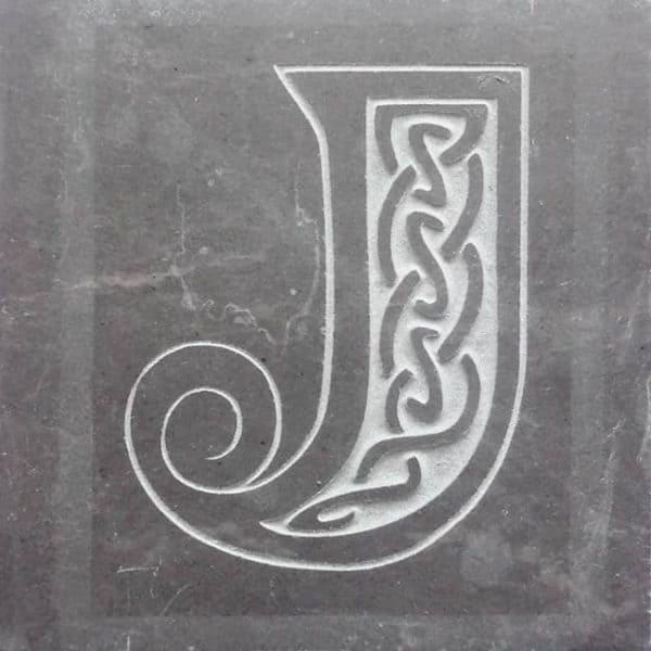Valentia Slate Letter J Coaster