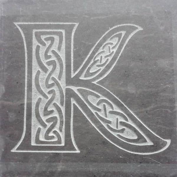 Valentia Slate Letter K Coaster