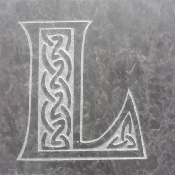 Valentia Slate Letter L Coaster