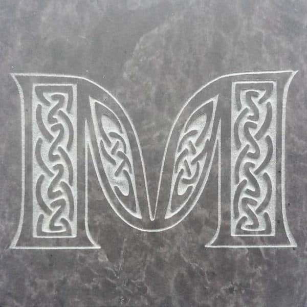 Valentia Slate Letter M Coaster