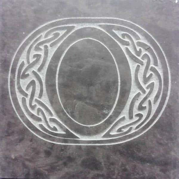 Valentia Slate Letter O Coaster