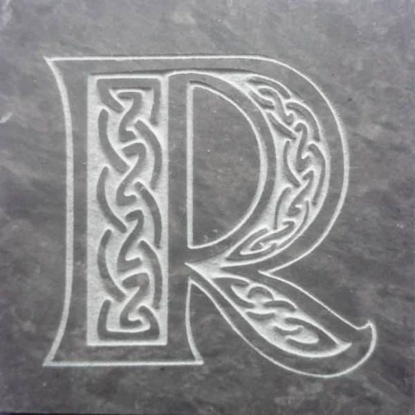 Valentia Slate Letter R Coaster