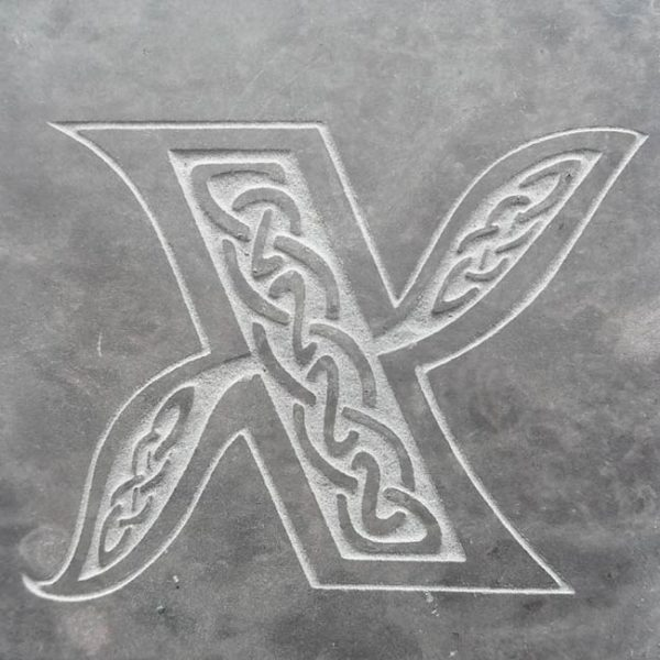 Valentia Slate Letter X Coaster